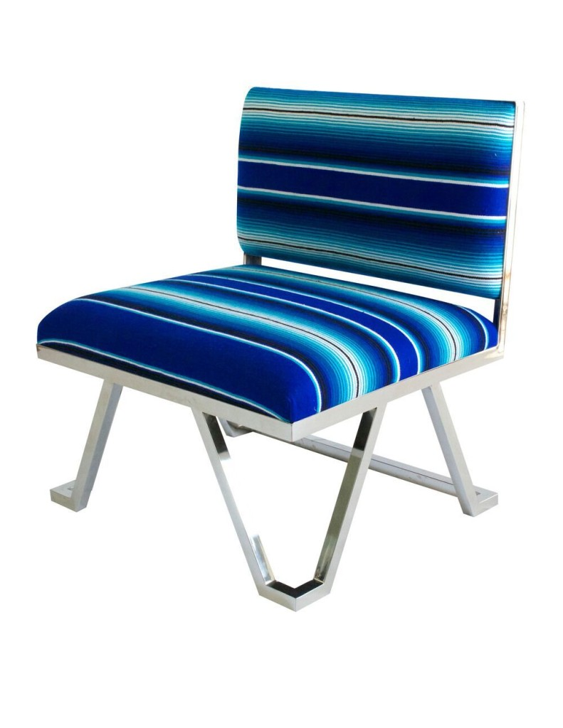 Blue-small-chair-with-chrome-base