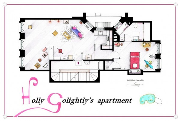 Breakfast-at-Tiffanys-Holly-Golightlys-Apartment-Floor-Plans-600x402