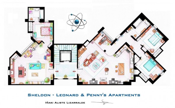 The-Big-Bang-Theory-Sheldon-Leonard-and-Pennys-Apartment-Floor-Plans-600x372