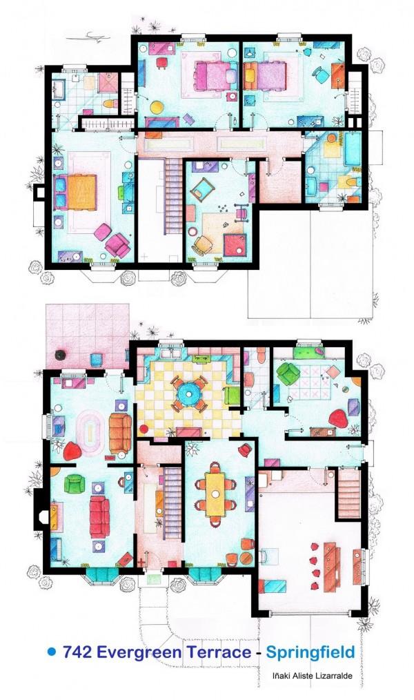 The-Simpsons-Home-Floor-Plans-600x1014